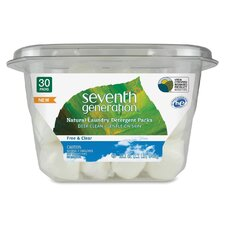 <strong>Seventh Generation</strong> Natural Laundry Detergent Packs (Pack of 30)