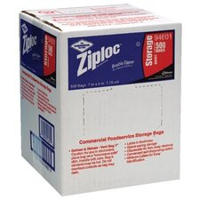 Johnson Diversey - Ziploc Commercial Resealable Bags Case/500 Ziplock Bags Quart Storage 1.75 Mil: 395-94601 - case/500 ziplock bags quart storage 1.75 mil