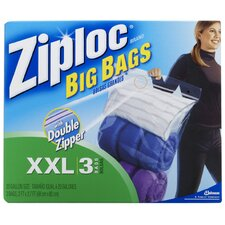 Ziploc XX-Large Big Bags with Double Zipper (8 Pack)