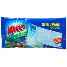 Windex Outdoor Glass Cleaning Refill Pads (Pack 2)