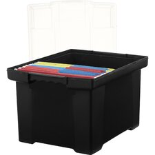 Letter/Legal Portable File Tote with Lid (Set of 6)