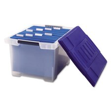 File Tote Storage Box, Letter/Legal, Snap-On Lid, Clear
