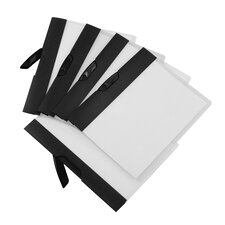 Poly Swing Clip Report Covers with Stripe (Set of 5)