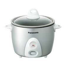 <strong>Panasonic®</strong> 3.3 Cup Rice Cooker with Glass Lid
