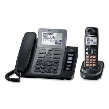 <strong>Panasonic®</strong> DECT 6.0 Two-Line Cordless Phone System with Answering Machine