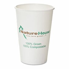 Naturehouse Compostable Paper/Pla Cup, 12 Oz, 50/Pack
