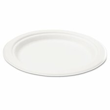"Naturehouse Bagasse 7"" Plate, 125/Pack"