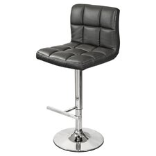 65 cm Adjustable Bar Stool with Padded Seat