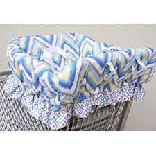Ikat Chevron Shopping Cart Cover
