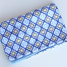 <strong>Caden Lane</strong> Ikat Mod Blue Piped Blanket