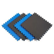 Reversible Sport Foam Mats in Blue / Gray (Pack of 4)