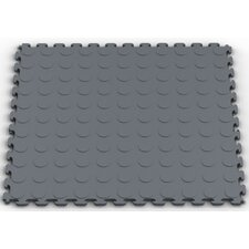 Raised Coin Multi-Purpose PVC Floor Tile in Dove Gray (Pack of 6)
