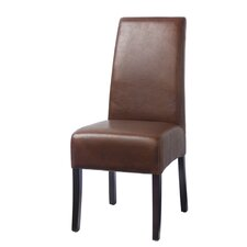 Hudson Leather Dining Chair in Tobacco