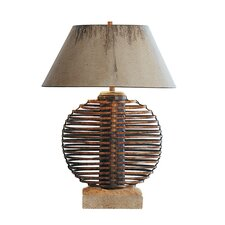"Ikebana Sphere 32.5"" H Table Lamp with Empire Shade"