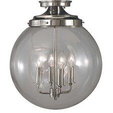 Moderne 4 Light Semi Flush Mount