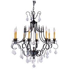 Vintage 8 Light Dining Chandelier