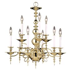 <strong>Framburg</strong> Kensington 9 Light Dining Chandelier
