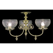 Chancery 3 Light Chandelier Mount