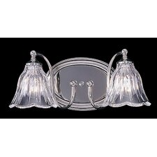 Crystal Nouveau 2 Light Vanity Light