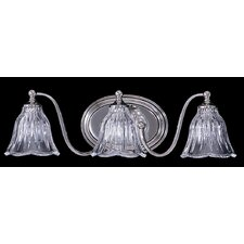 Crystal Nouveau 3 Light Vanity Light