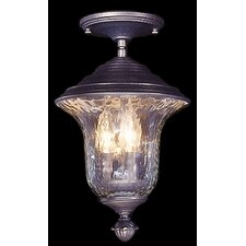 Carcassonne 3 Light Outdoor Semi-Flush Mount