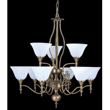 Provence 9 Light Dining Chandelier