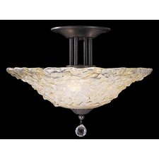 Rhapsody 3 Light Semi Flush Mount