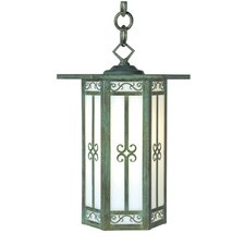 <strong>Arroyo Craftsman</strong> Lily 1 Light Outdoor Hanging Lantern