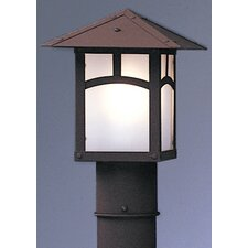 "Evergreen 1 Light 7"" Outdoor Post Lantern"