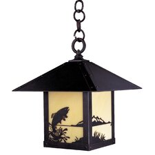 <strong>Arroyo Craftsman</strong> Timber Ridge 1 Light Outdoor Hanging Lantern