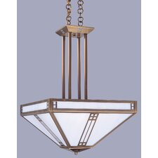 <strong>Arroyo Craftsman</strong> Prairie 4 Light Inverted Foyer Pendant
