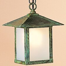 <strong>Arroyo Craftsman</strong> Evergreen 1 Light Outdoor Hanging Lantern