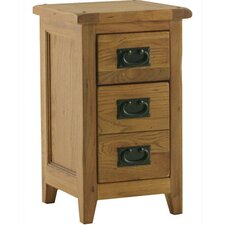Bordeaux 3 Drawer Bedside Table