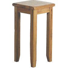 Bordeaux Small Lamp Table in Medium Oak Stain and Satin Lacquer