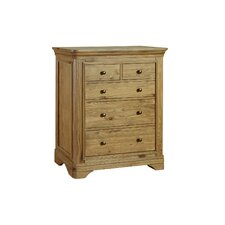 Regal Oak 2 Over 3 Drawer Wide Chest