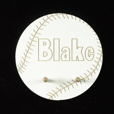 Personalized Baseball Pegged Wall Plaque
