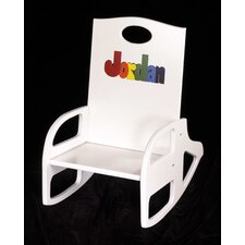 <strong>Hollow Woodworks</strong> Personalized Double Name Kid's Rocking Chair