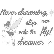 Dekosticker Never stop dreaming