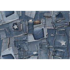Fototapete Jeans - 254 x 368 cm