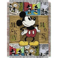 <strong>Northwest Co.</strong> Entertainment Tapestry Throw Blanket - Mickey Mouse Comic
