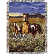 <strong>Northwest Co.</strong> Entertainment Tapestry Throw Blanket - Hautman Brothers HB Running Pintos