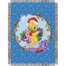 <strong>Northwest Co.</strong> Entertainment Tapestry Holiday Throw Blanket - Pooh - Home Made Holiday