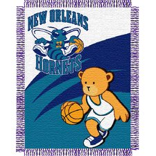 NBA New Orleans Hornets Baby Triple Woven Jacquard Acrylic Throw