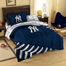 Open Box Price MLB 5 Piece Twin Bed in a Bag Set