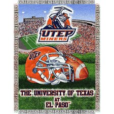 NCAA UTEP Tapestry Throw