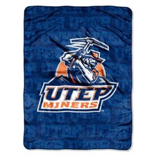 College NCAA UTEP Polyester Micro Raschel Throw Blanket