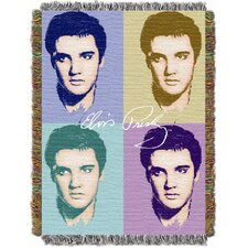 <strong>Northwest Co.</strong> Entertainment Elvis Pop Tapestry Throw