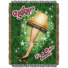 Entertainment Holiday Christmas Story Leg Lamp Tapestry Throw