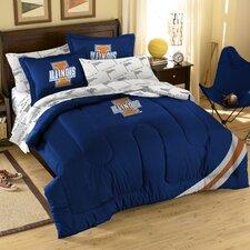 College NCAA Illinois Full Comforter Set