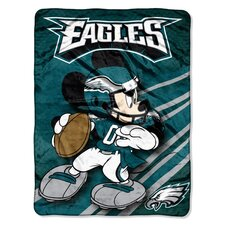 NFL Philadelphia Eagles Mickey Mouse Polyester Raschel Throw